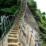 hiking up Cimu Peak